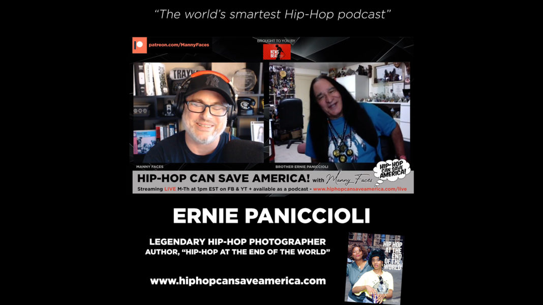 Ernie Paniccioli interview on Hip-Hop Can Save America podcast