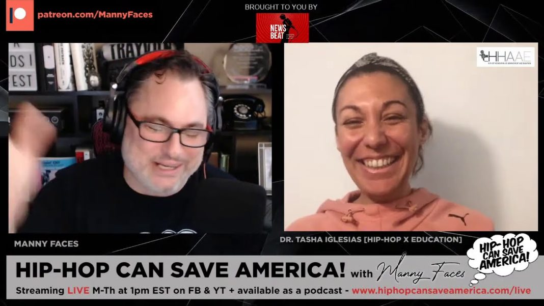Dr. Tasha Iglesias interview on Hip-Hop Can Save America podcast